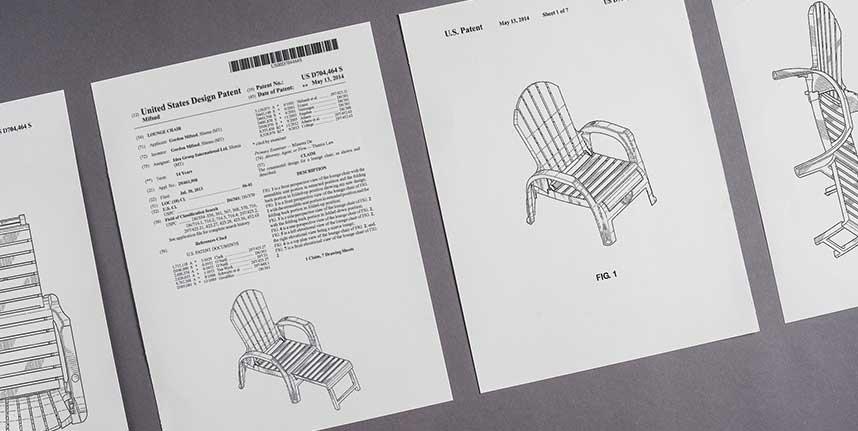 4 tavole di fogli per registrazione Design Ufficio Veneto Brevetti