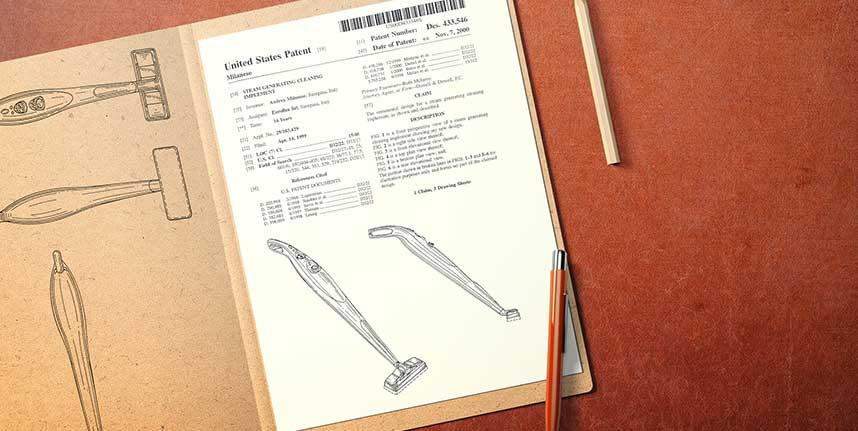 Scheda di registrazione Design scopa elttrica