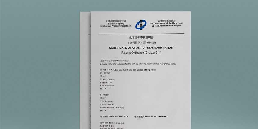 certificate of grant of standard patent - certificato di concessione di brevetto standard